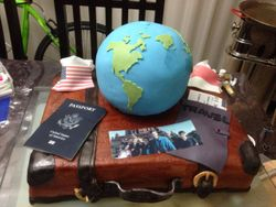 Globe Farewell Cake 2