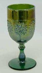 Orange Tree wine glass, green