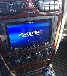 """04 Mercedes G500 with an Alpine 7"""" Mech-less touchscreen"""