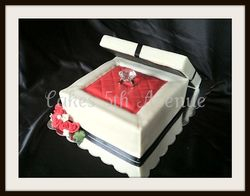 Engagment Ring Box Cake #2
