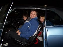 Mom and the boys surprise dad with a 1967 Buick convertible