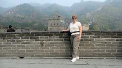 Lynda on Great Wall near Beijing