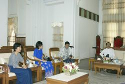 Donation ceremony at University of Medicine 1, Yangon