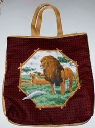 Lion/Elephant tote on Etsy