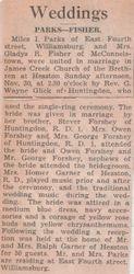 Parks - Fisher Wedding