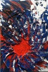 Oeil de l'ouragan Bleu Blanc Rouge