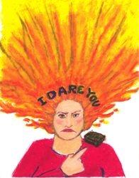 I Dare You, Oil Pastel, 11x14, Original Sold