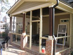 Raleigh NC Screened Porch Framing and Installation