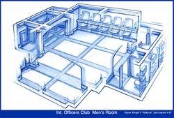 officers club, mens room