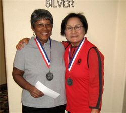 Silver flight winners- Millie Anderson & Soyoung Crabb