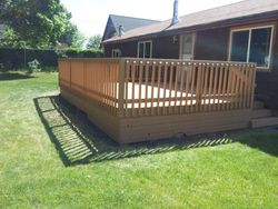 Installed New Deck Railing