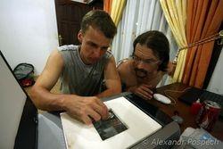 Dan Barta and Ales Dolny scanning dragonfly
