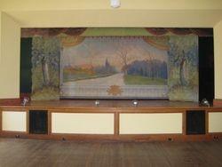Grand drape landscape scene
