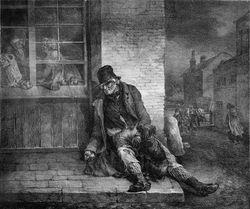 Gericault, Poor Old Englishman, 1821, litho
