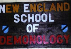 Sign which hangs
