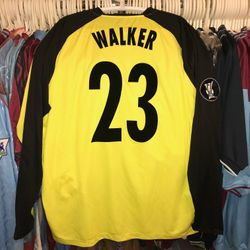 Jimmy Walker issued and squad signed away 2006/07 UEFA cup shirt