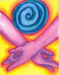 Turn to Your Center, Oil Pastel, 11x14, Original Sold