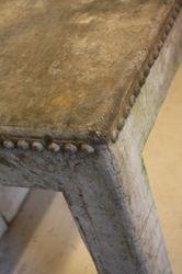 #18/168 Metal Industrial Table detail