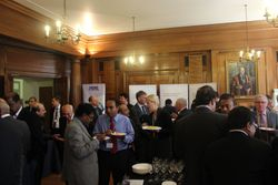 Faculty and delegates socialising during lunch