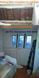 New insulation / drywall / Plaster