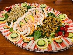 Large Sea food platters.
