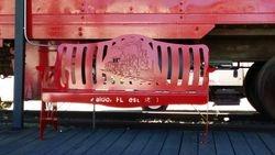 Waldo Florida Train Bench