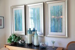 Water colors add depth to Dining Room