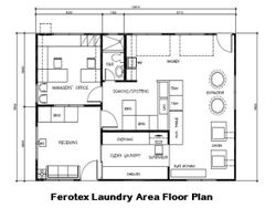 Typical Laundry Area Lay out Floor Plan