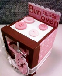 Baby Shower Favor box - side view