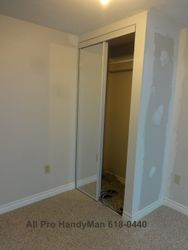 Closet built with sliding doors