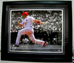 """Albert Pujols Signed """"ROY 01"""" 20x16"""" Matted Photo"""