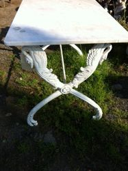 #17/234 Cast Iron Table Marble Top