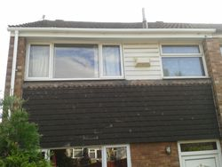 facia, soffit and guttering job