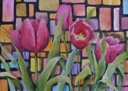 Retro Tulips