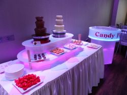 Chocolate fountain hire and candy floss machine package scunthorpe.
