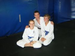 Sensei Johnny with Samantha & Lani