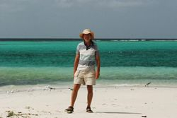 John on Baradel island beach