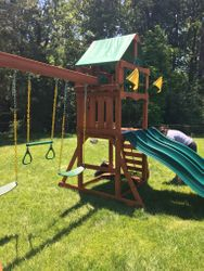 gorilla playset playmaker swing set assembly in towson maryland