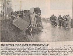 Dump Truck Overturned.