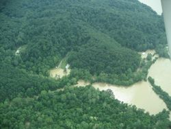 Aerial View of flood damage (B)
