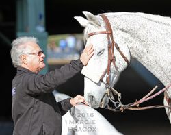 Trainer Art Sherman and a Pony