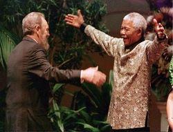 Mandela embraces Castro