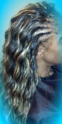 Regular cornrow TreeBraid (Synthetic hair) w/individual braided back