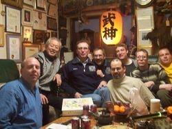 Shihan Willson at Soke Hatsumi's home