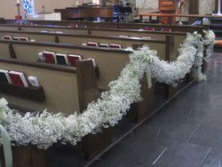 Baby's Breath Garland for the Aisle