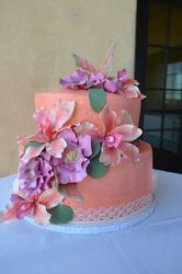Butterflies and Orchids Bridal Shower Cake