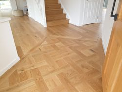 Custom made feature floor panel