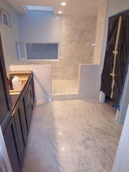 Marble tile Master Bath room