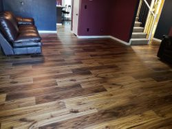 New laminate and baseboards