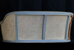 Antique Caned Settee Back View